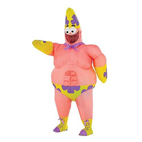 Spongebob Squarepants Costumes (SpongeBob Movie Deluxe Inflatable Patrick Costume for Kids)