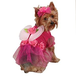 Casual Canine Flower Fairy Dog Costume, X-Small, Pink