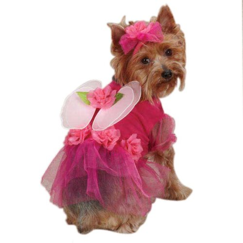 L Casual Canine Flower Fairy Dog Costume, Large, Pink