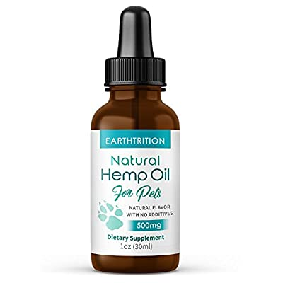 Cat Health Products Pet Hemp Oil by Earthtrition – New Product – 500mg – 100% Organic Extract, Safe For Cats Dogs and Others, Decrease… [tag]