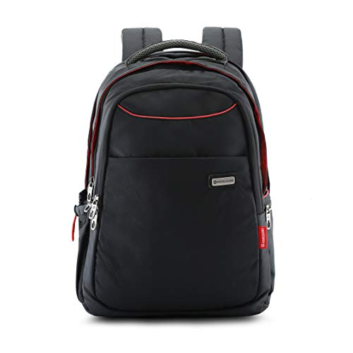 Harissons Concord Polyester 38 L Black 15.6″ Professional Office Laptop Backpack for Men and Women