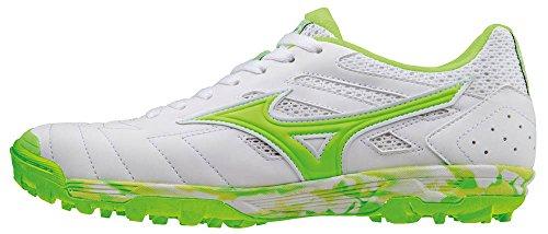 Mizuno Sala Classic As, Botas de Fútbol para Hombre Bianco (White/Green Gecko)
