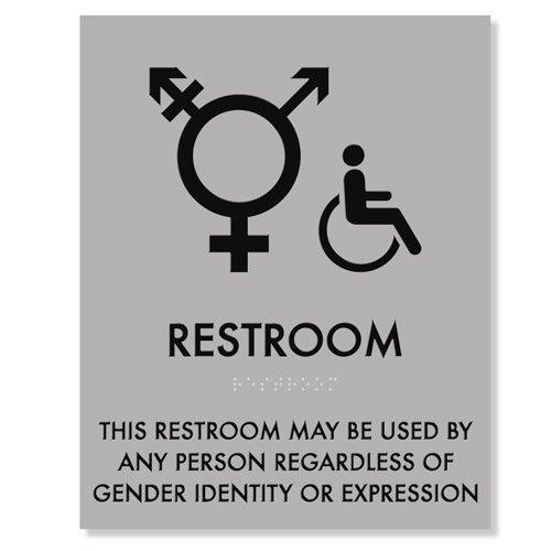 Transgender Symbol Handicap Restroom Sign 8