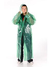 Scythia Men's Polyethylene Clasp Button Сapuche Outdoors Hike Fishing Raincoat