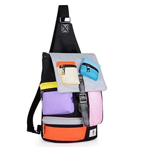 Épaules D'épaule À Casual Recharge couleurs Oxford Chest Port Pour Sac Avec Hommes Dos Outdoor De Bag Usb ZqdBvw