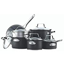 Paderno 12-Piece Hard Anodized Cookware Set | PFOA-Free Non-Stick Kitchen Pots and Pans Set with Covered Steamer
