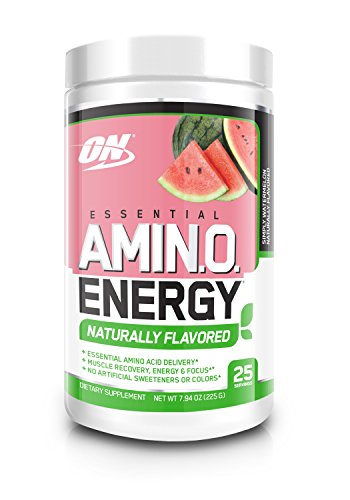OPTIMUM NUTRITION Naturally Flavored ESSENTIAL AMINO ENERGY, Simply Watermelon, Preworkout and Essential Amino Acids with Green Tea and Green Coffee Extract, 25 Servings