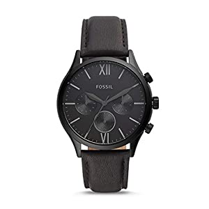 Fossil Chronograph Men's Watch (Black Dial Black Colored Strap)