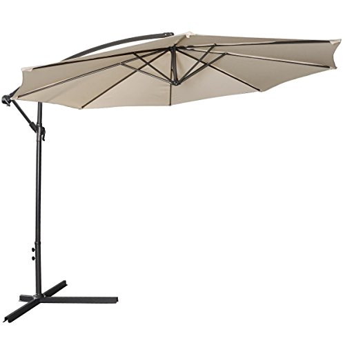 patio-garden-umbrella-sun-shade-10-ft-hanging-offset-outdoor-market-cafe-beach-w-cross-base-beige