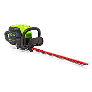 GreenWorks HT80L00 Hedge Trimmer Pro 80V 24-Inch Brushless Battery Not Included, Black and Green
