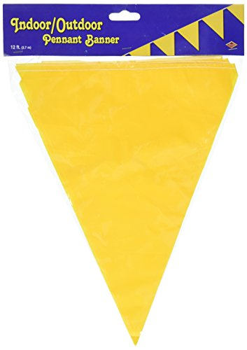 Beistle Indoor/Outdoor Pennant Banner, 10-Inch by 12-Feet, - Pennant 12' Banner