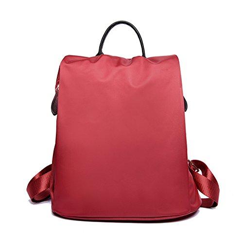 Yokeeyoo - Bolso mochila  para mujer rojo rojo carmesí Free rojo carmesí