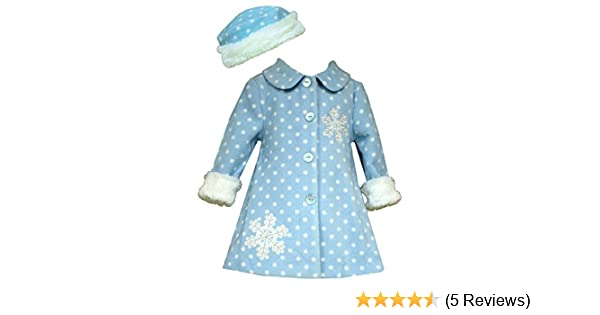 13df7bc9b Amazon.com  Bonnie Jean Baby-Girls Frosty Aqua Snowflake Faux Fur ...