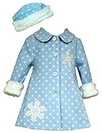 Bonnie Jean Baby Girl's Snowflake Fleece Coat with Hat