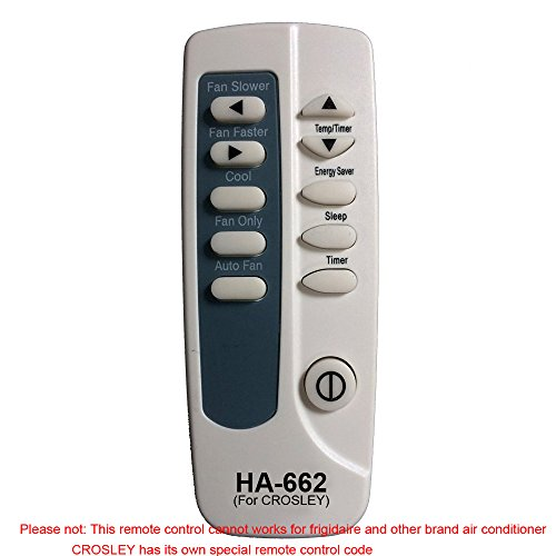 HA-662 Replaces Crosley Air Conditioner Remote Control 5304472230 5304482751 works for CAE18ESRR410A17 CAE25EHQ CAE25EHQ2 CAE25EHQ20 CAE25EHQ21 CAE25ESR CAE25ESR0 CAE25ESRA by Generic (Image #4)