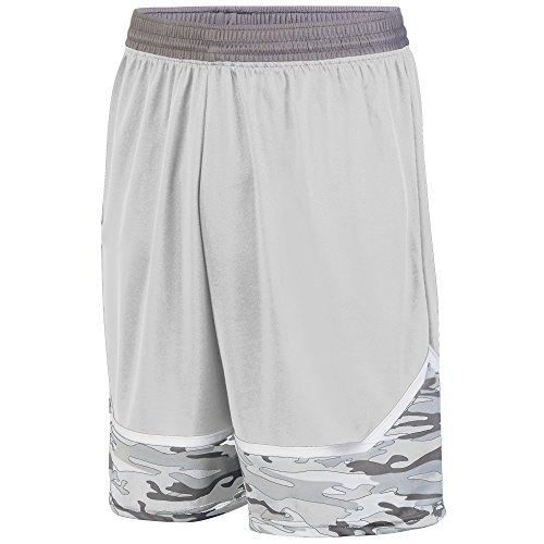 Augusta Sportswear Boys' Mod Camo Game Short M White/Graphite/Graphite
