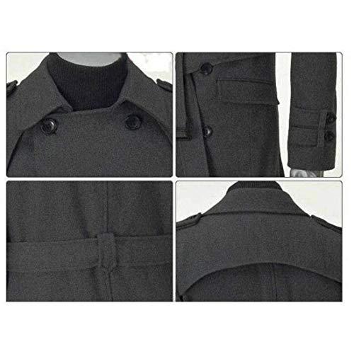 Uomo Uomo Uomo Outfit Coat con Giacca BIRAN BIRAN BIRAN BIRAN da Trench Giacca Invernale Slim Unico Fit College Lunga Cappotto Capispalla Grau Design Warm Coat qdtw6wxT0