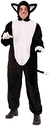Forum Novelties Cat Mascot Costume, Black/White, Standard -