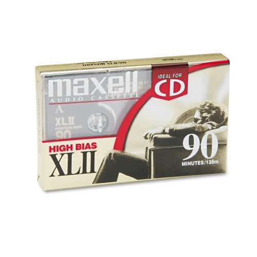 Xlii-90 Single High Bias Cassette Maxell 139410 Accessory Consumer Accessories Accessory Products Blank Media & Cleaning Cartridges