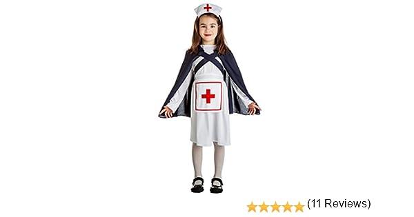 Disfraz de Enfermera Ejército IIGM para niña: Amazon.es: Juguetes ...