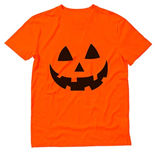 Jack O' Lantern - Smiling Pumpkin Face - Easy Halloween Costume Fun T-Shirt X-Large Orange