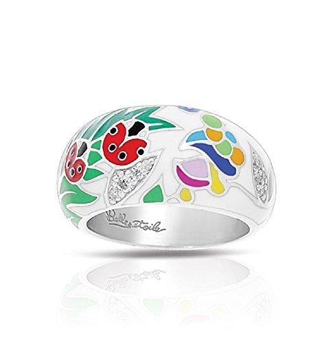 Belle Etoile: LadyBug White & Multi Ring