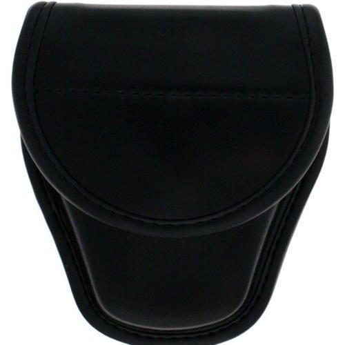 Bianchi 22062 Model 7900 Covered Handcuff Case, Size 1, Plain Black, Hidden Snap