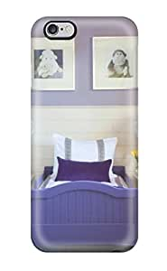 Best 4100343K39150551 Perfect Purple Toddler Bed In Lavender Room With White Floral Hanging Lantern Lights Case Cover Skin For Iphone 6 Plus Phone Case