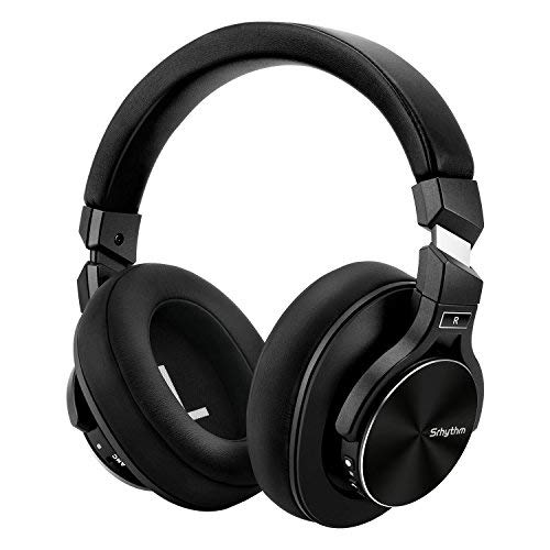 Active Noise Cancelling Headphones, Srhythm Bluetooth Headset with Microphone Hi-Fi Stereo Deep Bass Wireless Headphones Over Ear for iPhone/Android/PC/TV-Black