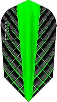 Harrows 5 x Sets Quantum Green Dart Flights Slim w/GRA Outchart