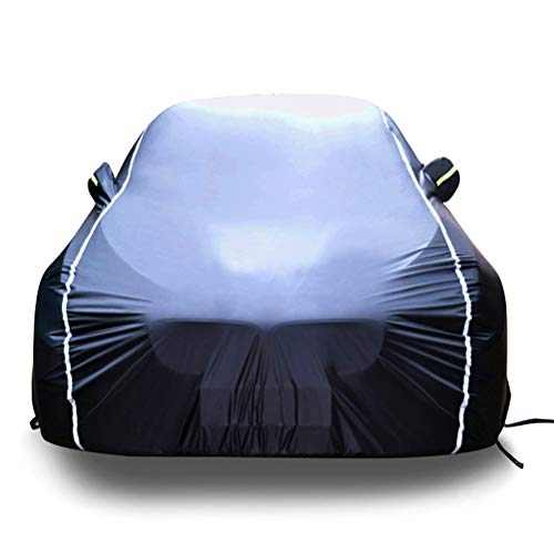 Car Cover Compatible with Audi TT TTS TTRS RS3 RS4 RS5 RS6 RS7 R8 Waterproof Breathable UV All Weather Protection Full Car Covers Color : Logo, Size : RS3