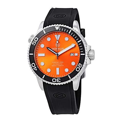 Deep Blue Master 1000 Orange Dial Automatic Diver Men's Watch MAS1KORGSUN