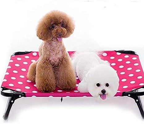 JohnJohnsen Cama del Perro elevada portátiles levantados Mascotas Cuna Impermeable y Transpirable Mat Pies no Deslizante Duradero Oxford Tela Interior o de ...