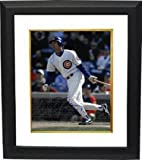 Autographed Ryne Sandberg Photo - 11X14 Custom Framed HOF 05 dropping bat) - Autographed MLB Photos