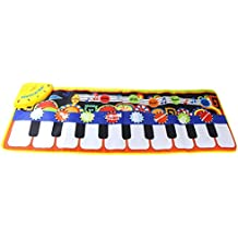 Coolplay Piano Play Musical Mat Touch Keyboard Singing Carpet for Baby Gift -10 Key Step on Keyboard,8 Selectable Musical Instruments,43.3'' x14.2''