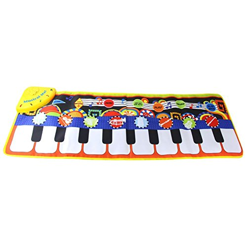 "Coolplay Piano Play Musical Mat Touch Keyboard Singing Carpet For Baby Gift -10 key Step on Keyboard,8 Selectable Musical Instruments,43.3"" x14.2"""