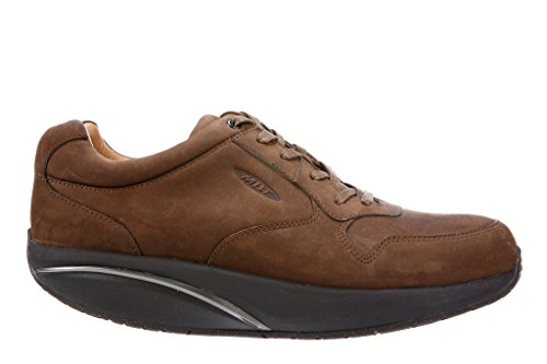Mbt Wood (MBT MEN'S SAID 6S CASUAL DRESS LACE UP WALKING SHOE WITH VIBRAM OUTSOLE (EU45(11-11.5), DARK WOOD))