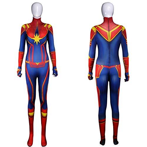 Goteddy Carol Danvers Tights Bodysuit Halloween Costume Jumpsuit Outfit Women S]()