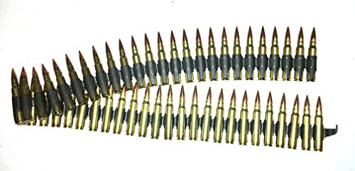 J&M Specialties MG-42 Dummy Rounds 8mm Mauser 50 rd Belt Snap Caps Linked WWII German 8x57 Mauser (50 RDS)