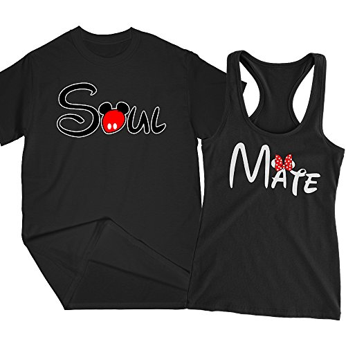 1db43f4d80 Soul Mate Cartoon   Matching Couple T-shirt/Racerback Tank, Couple Goals.  All Valentines Day ...