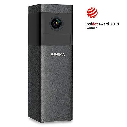 Remote Color Camera - BOSMA X1 Home Security Camera, 1080p HD Surveillance Camera with Two-Way Talk | Color Night Vision | Siren Alarm | Remote Monitoring | PIR/Motion/Sound Alerts | Compatibles with Alexa