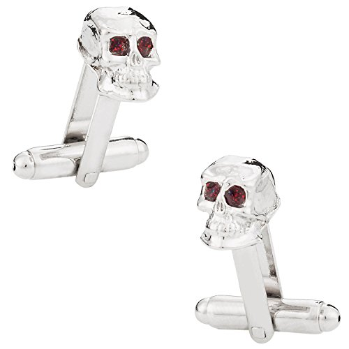Silver Skull Cufflinks with Gift Box
