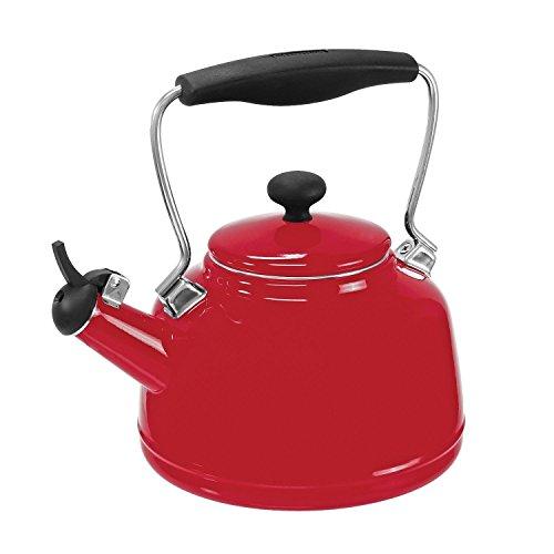 Chantal 37-vint Re Enamel On Steel Vintage Teakettle; 1.7 Quart; Red (Vintage Red Tea Kettle compare prices)
