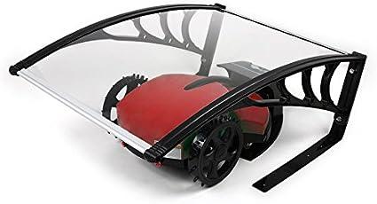 LZQ Funda Protectora para Cortacésped Carport para Robot, Cubierta de Garaje para Robot, Protección contra la Lluvia, el Granizo y los Rayos UVA (103 x 77 x 45,5 cm)