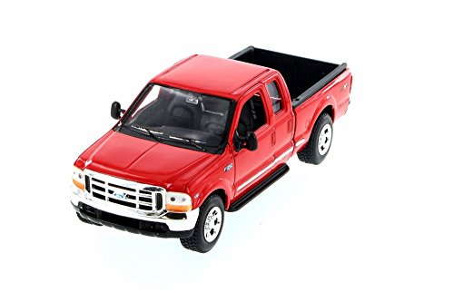 Welly 1999 Ford F350 Pickup Truck 1/24 Scale Diecast Model Car Red