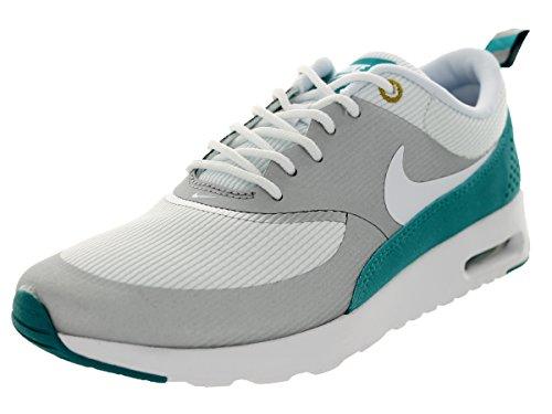 6cd3694897741 Nike Women's Air Max Thea Mtllc Slvr/White/Trb Grn/Drk C Running ...