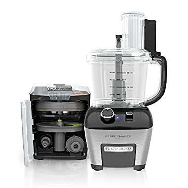 BLACK+DECKER FP6000 Performance Dicing Food Processor Dial Control, Food Processor, Stainless Steel