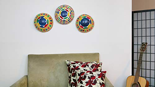 Hand Carved and Hand Painted Wall Decor Fulani Gourd/Calabash - ()