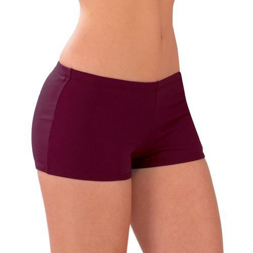 Poly Blend Boy-cut Briefs (AL, Maroon)