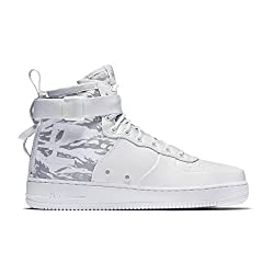 Nike Mens Sf Air Force 1 Winter Mid Premium Shoes Whitewhite Aa1129-100 Size 7.5